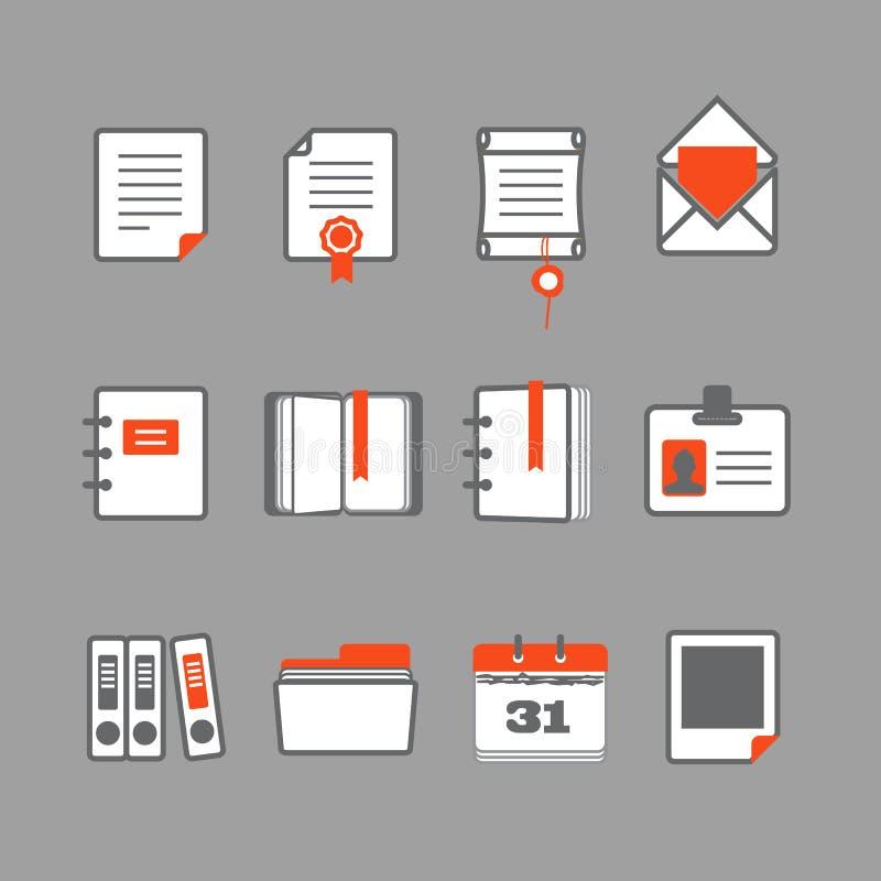 办公室文件象 向量例证