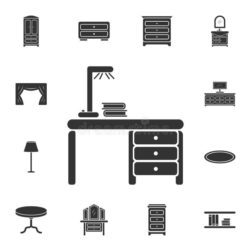 办公室桌象 简单的元素例证 办公室表从家庭家具汇集集合的标志设计 能为网使用 皇族释放例证