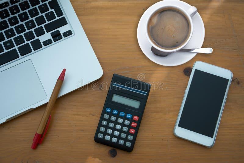 办公室桌 免版税库存图片