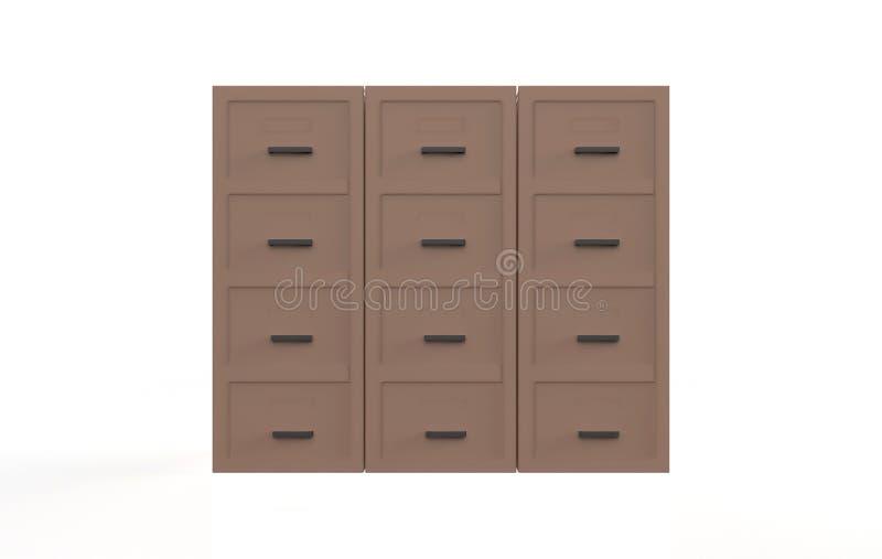 办公室档案橱柜 库存例证