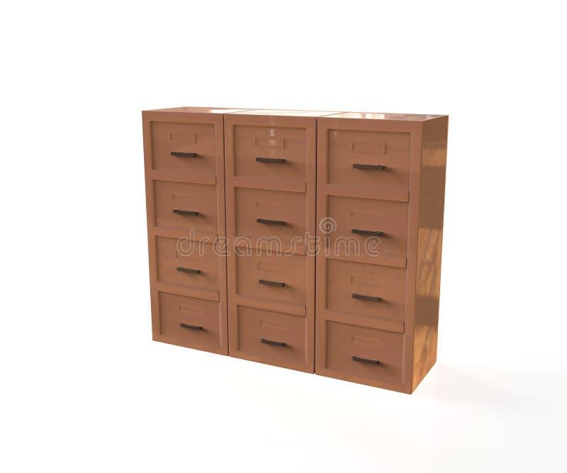 办公室档案橱柜 向量例证