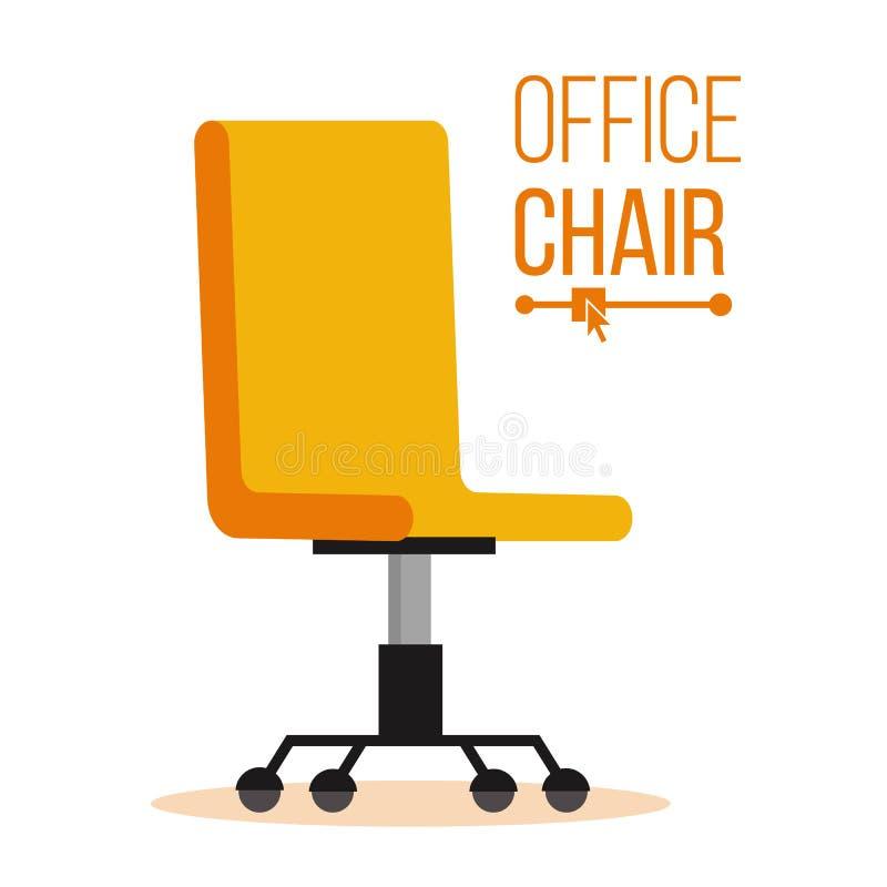 办公室椅子传染媒介 吸收的事务聘用和 雇员的空位 执行董事的人体工程的扶手椅子 库存例证