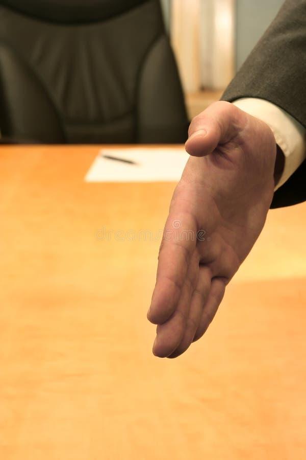 办公室欢迎 免版税库存图片