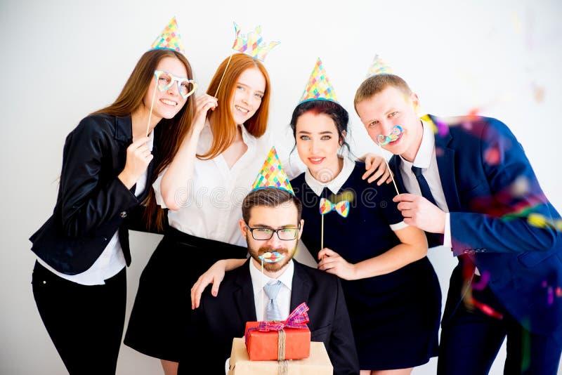 办公室生日聚会 免版税库存照片