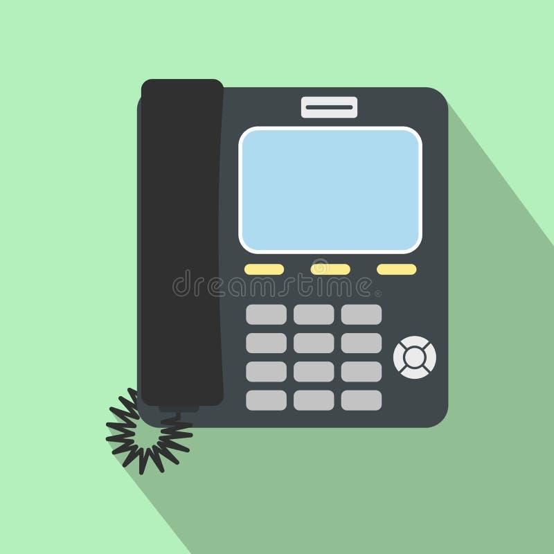 办公室电话平的象 向量例证