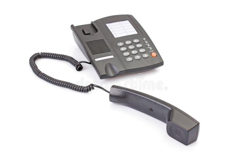 办公室电话的黑色异常分支 库存照片