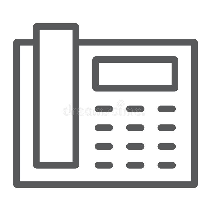 办公室电话线象、办公室和通信 皇族释放例证