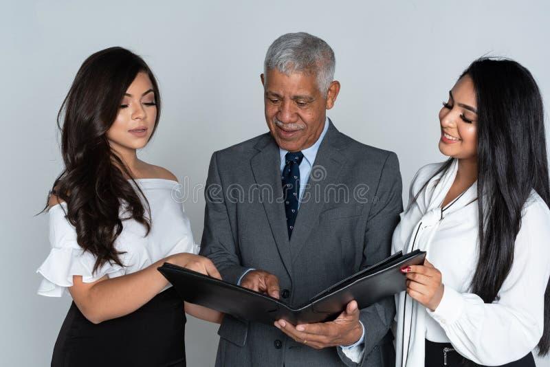 办公室的业务团队 免版税图库摄影