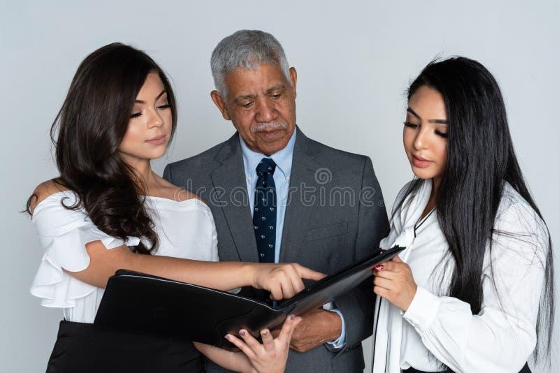 办公室的业务团队 免版税库存图片