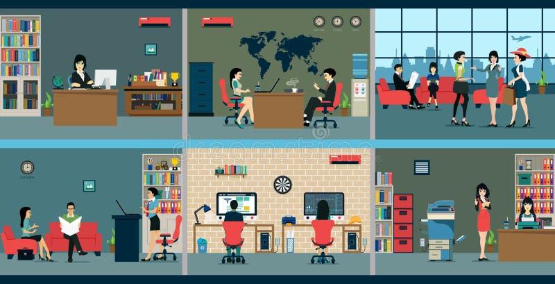 办公室空间 库存例证