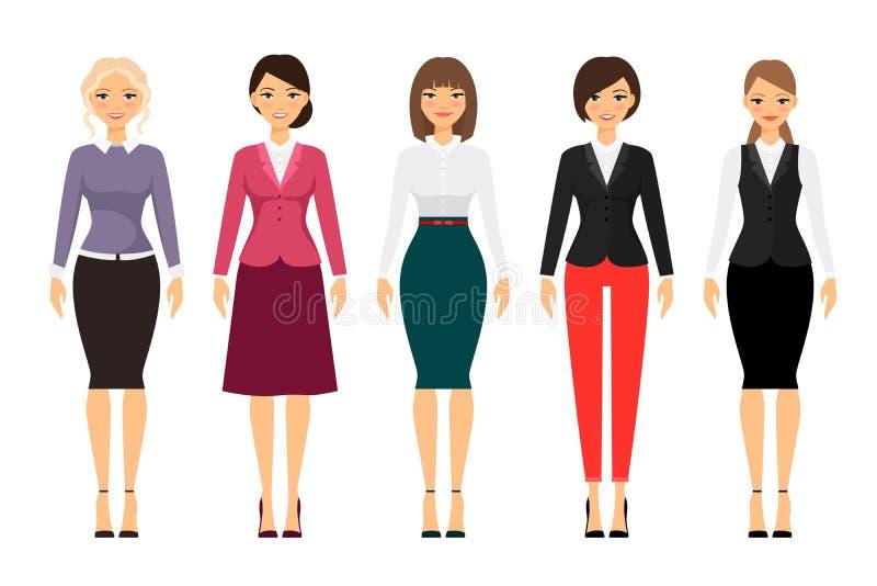 办公室衣裳的妇女 库存例证