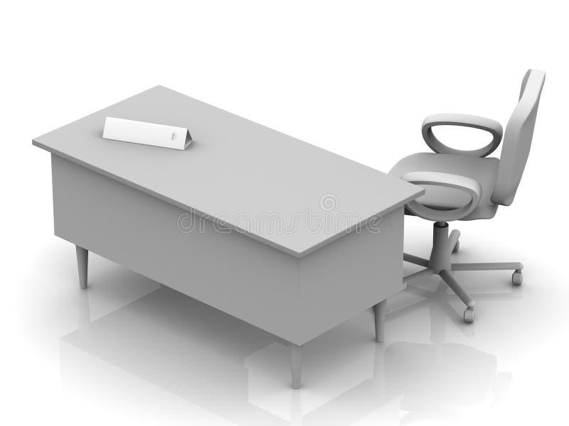 办公室表片剂 库存例证
