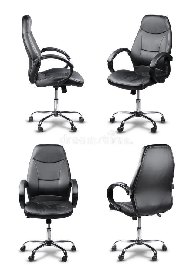 办公室被隔绝的椅子集合 免版税库存照片