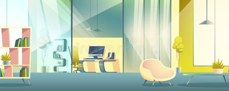 办公室运作的内阁动画片传染媒介内部 皇族释放例证