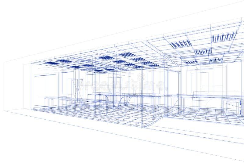 办公室项目电汇 向量例证
