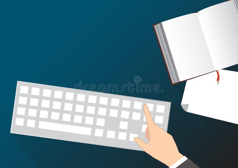 办公桌传染媒介背景 向量例证