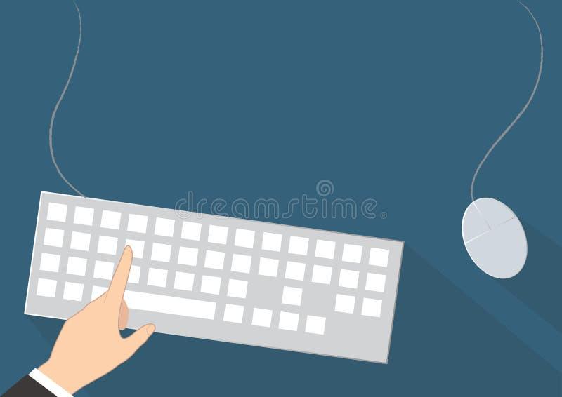 办公桌传染媒介背景 库存例证