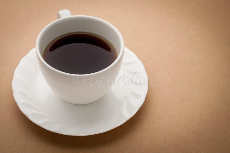 办公桌用无奶咖啡 免版税图库摄影