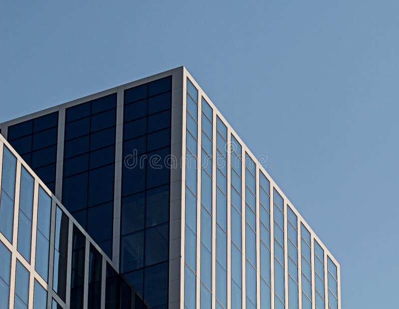 办公楼在城市 免版税库存照片