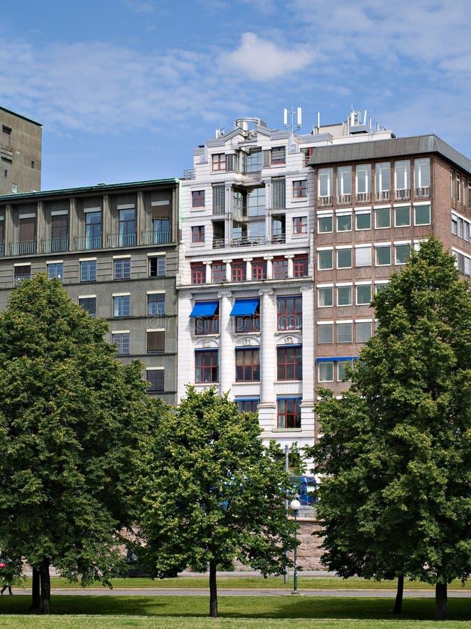 办公楼在奥斯陆,挪威 免版税库存图片