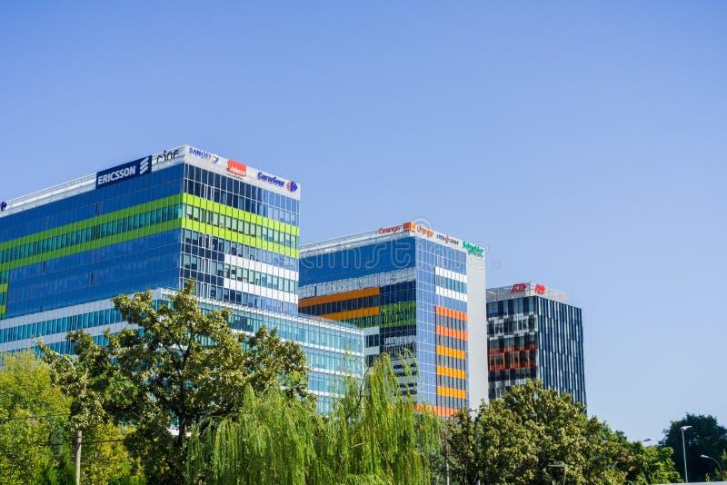 办公楼复合体,布加勒斯特 库存图片