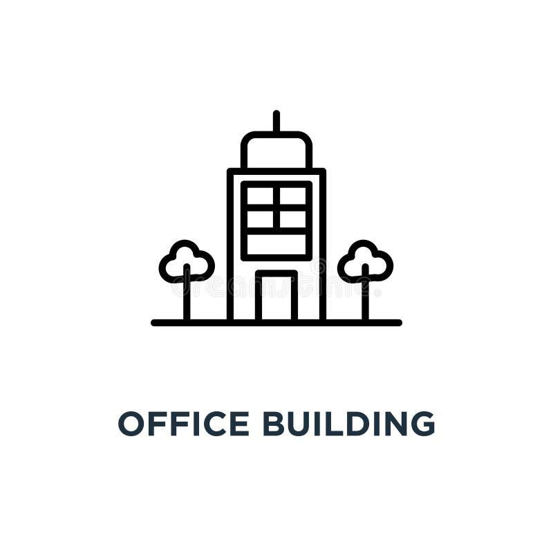 办公楼象 线性简单的元素例证 Busine 库存例证