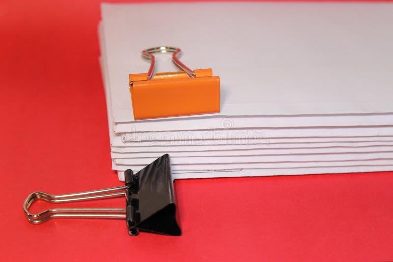 办公用品橙色和哥特式黑体字和更多 图库摄影