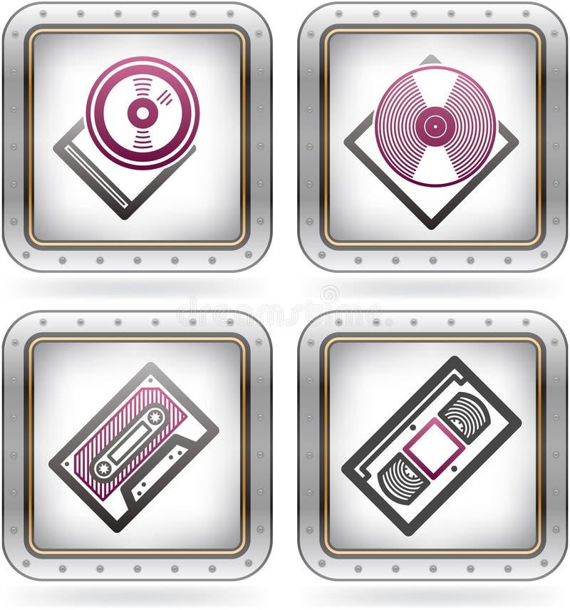 Download 办公用品 向量例证. 插画 包括有 图标, 按钮, 符号, 卡式磁带, 乙烯基, 图表, 学校, 办公室 - 22351025