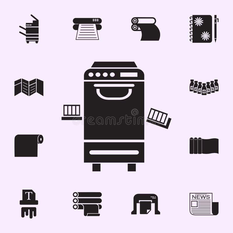 办公用打印机象 网和机动性的印刷品房子象全集 向量例证