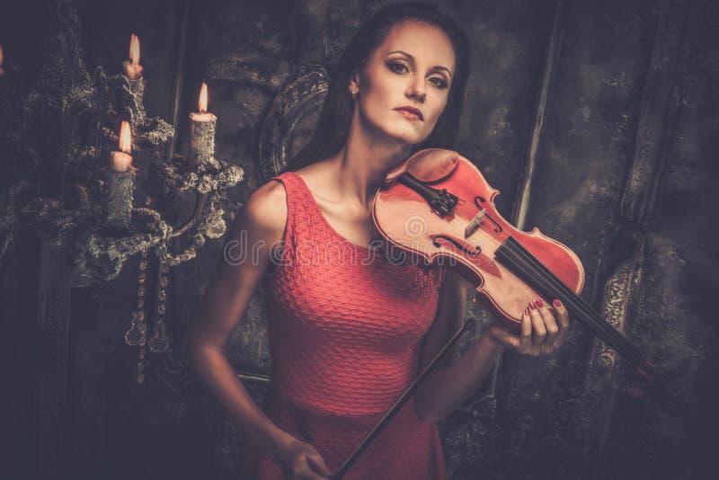 加上小提琴乐弓 库存照片