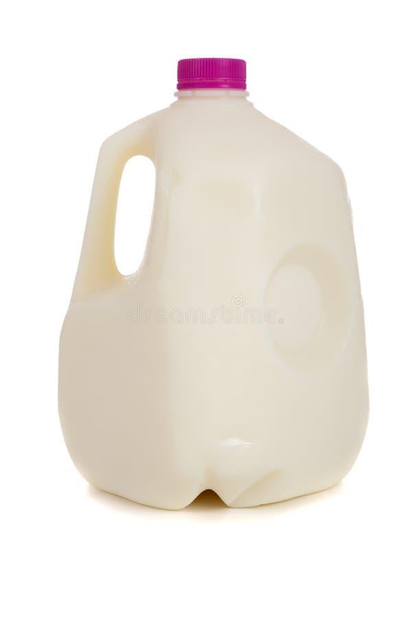 加仑牛奶 库存图片