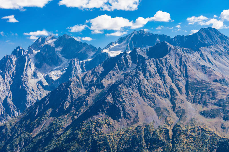 更加伟大的高加索山脉 库存照片