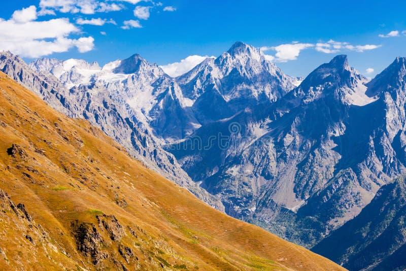 更加伟大的高加索山脉 库存图片