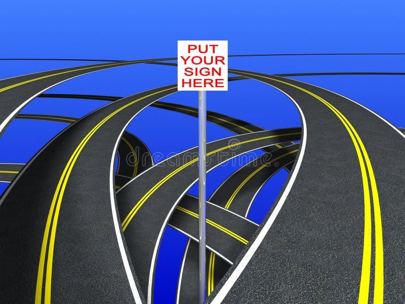 加倍路标主街上 向量例证