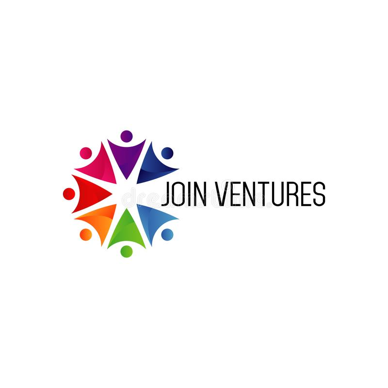 加入Venture Business Company商标标志 库存例证