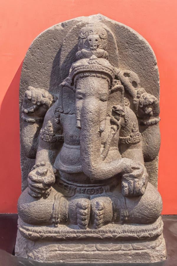 加内什阁下考古学雕塑从印度神话的, 库存照片