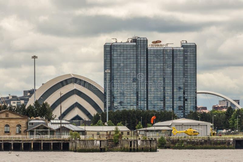 加冠广场旅馆和犰狳中心,格拉斯哥,苏格兰英国 免版税库存图片
