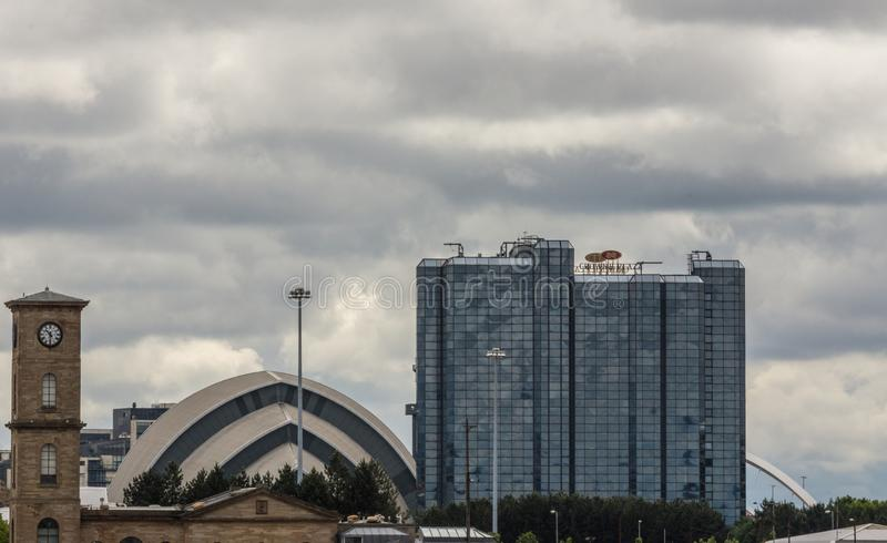 加冠广场旅馆和犰狳中心,格拉斯哥,苏格兰英国 图库摄影