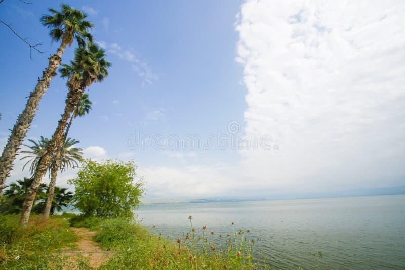 加利利海在提比里亚,以色列 免版税库存图片