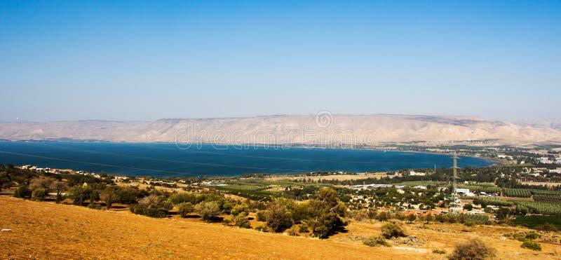 加利利海在提比里亚,以色列 免版税图库摄影