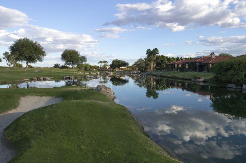 加利球员署名高尔夫球场 库存图片