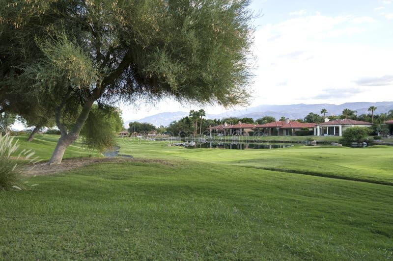 加利球员署名高尔夫球场 免版税库存图片