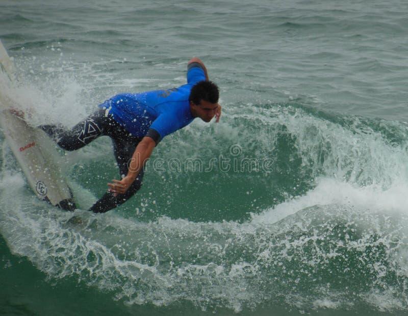 加利福尼亚冲浪的比赛点Mugu 2018年 库存照片