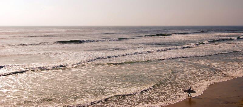 加利福尼亚南部冲浪 免版税图库摄影