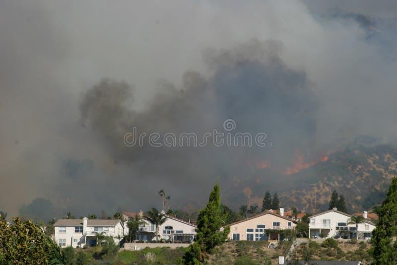 加利福尼亚南部的野火 图库摄影