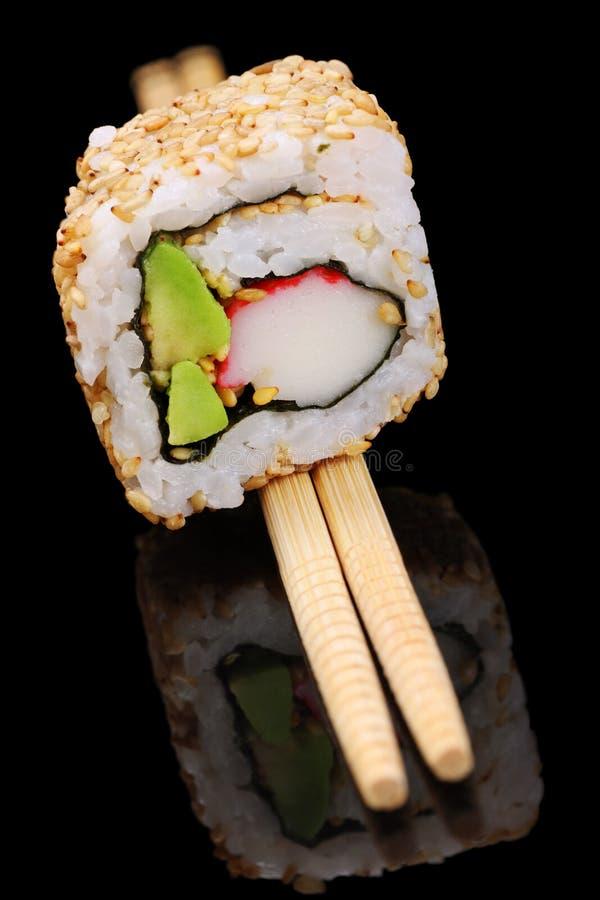 加利福尼亚卷寿司 免版税库存图片