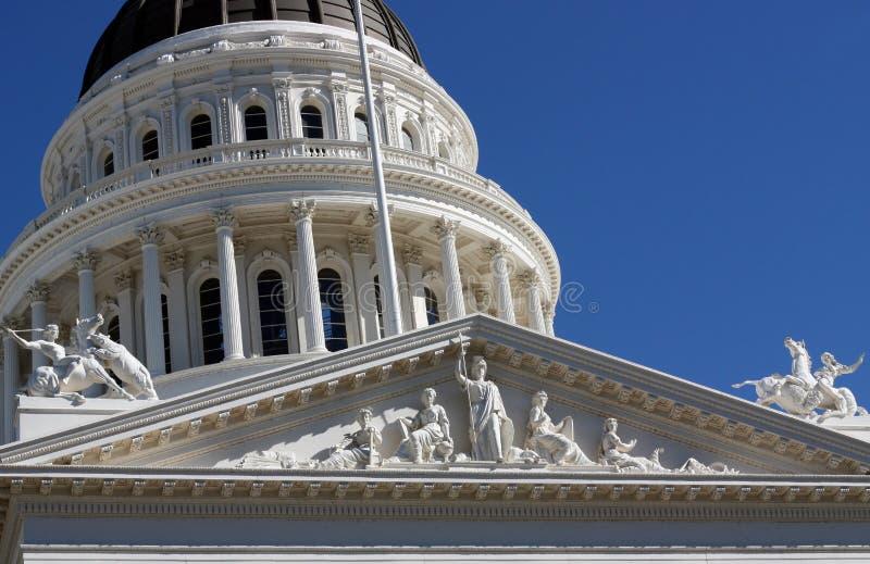 加利福尼亚国会大厦状态 免版税库存图片