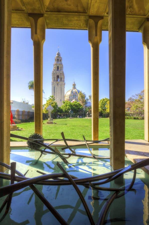 加利福尼亚大厦,巴波亚公园 免版税图库摄影