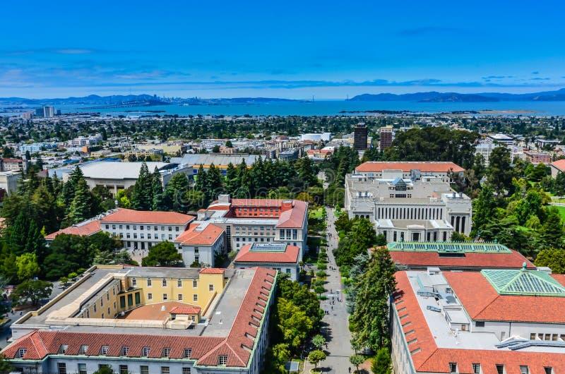 加利福尼亚大学伯克利分校鸟瞰图 图库摄影