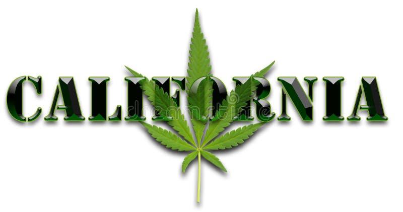 加利福尼亚大麻叶子 皇族释放例证
